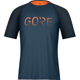 GORE WEAR Devotion Shirt Men orbit blue/fireball